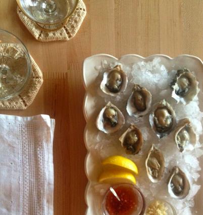 Oysters, mignonette, fresh horseradish