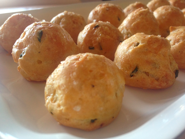 Gougère (French Cheese Puffs) | Ooh, my favorite!