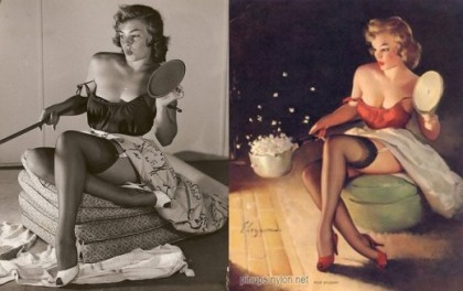 Pin up before and after